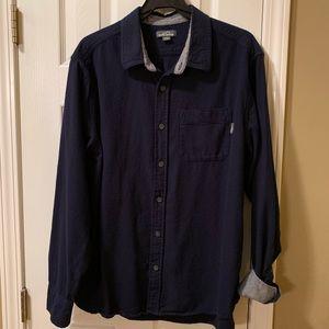 Eddie Bauer, men's XXL, navy flannel shirt, EUC.